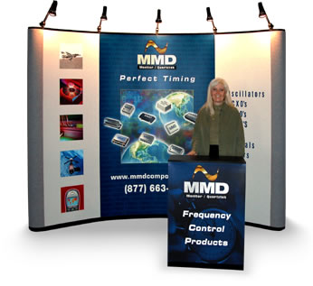 Exhibit Booth Design in Orange County by Graphically Speaking - www.